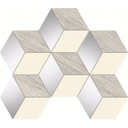 Senza grey hex Мозайка 22,1×28,9