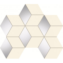 Senza white hex Мозайка 22,1×28,9