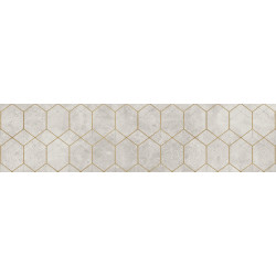 Softcement White Decor Geo Mat 297x1197 Матовая